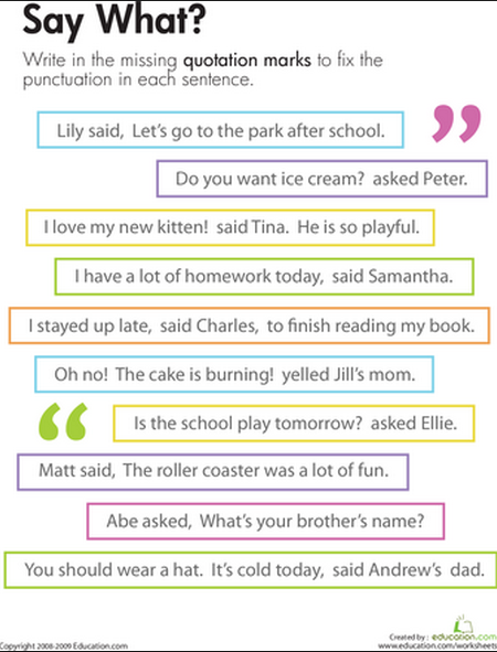 Commas in compound sentences worksheet 2nd grade